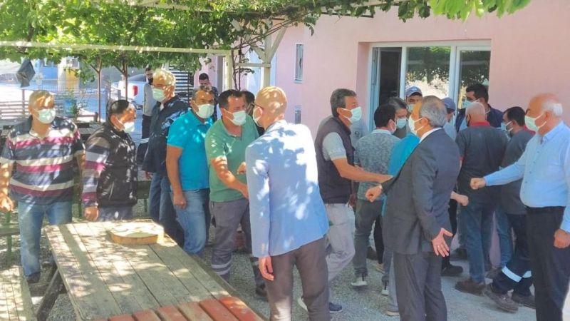 Başkan Tuncel şantiyede personelle bayramlaştı