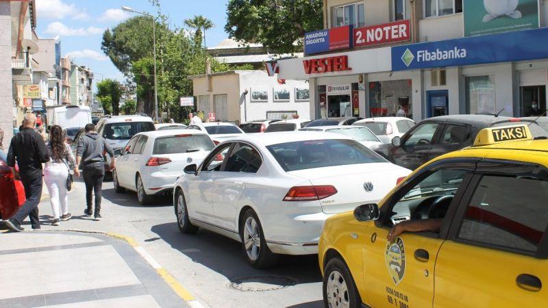 Söke'de yoğun trafik