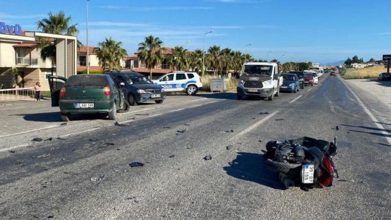 Motosiklet ile otomobil kafa kafaya çarpıştı: 1 ölü 1 yaralı