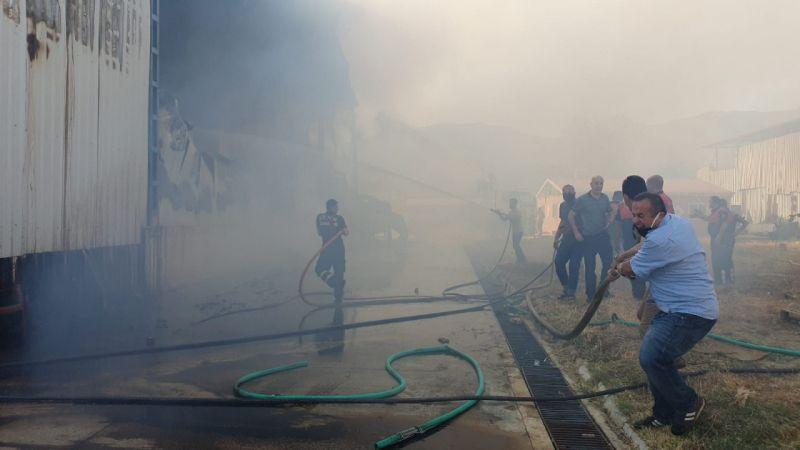 Gıda fabrikasındaki yangın kontrol altına alındı