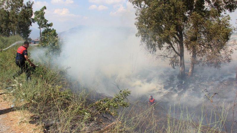 Söndürülmeden atılan izmarit, Aydın'ı duman altında bıraktı
