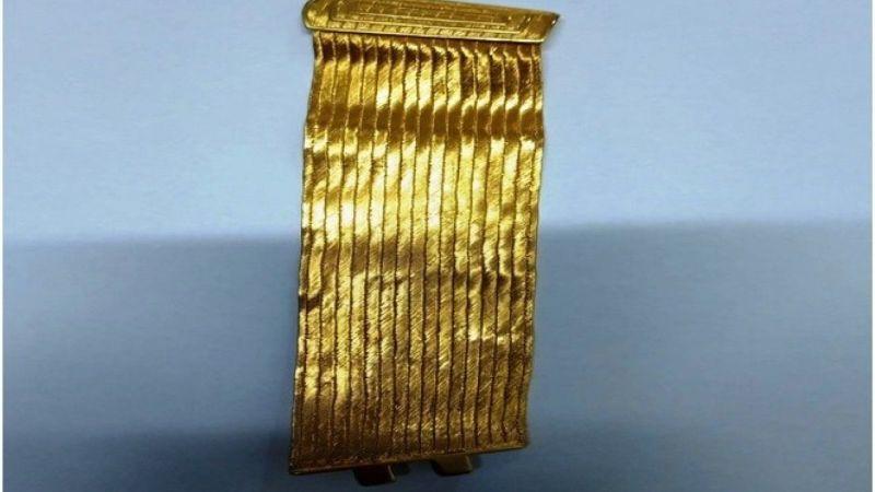 Sahte altın bilekliği satmaya çalışırken yakalandı