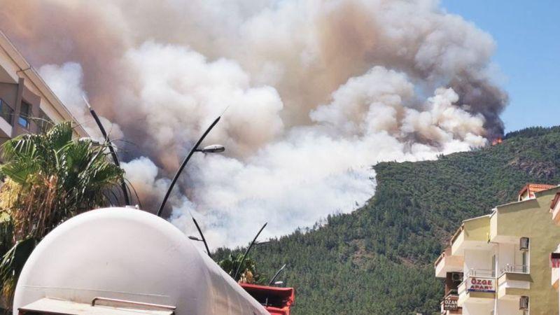 Marmaris'te orman yangını 1 şehit