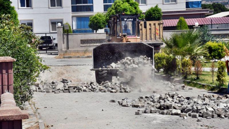 Söke Belediyesi yol çalışmaları hız kesmiyor