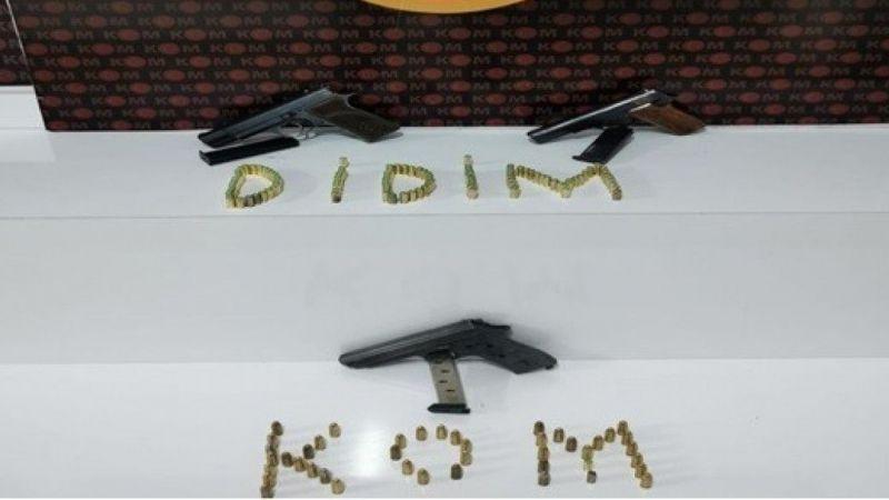 Didim'deki operasyonda silah ele geçirildi