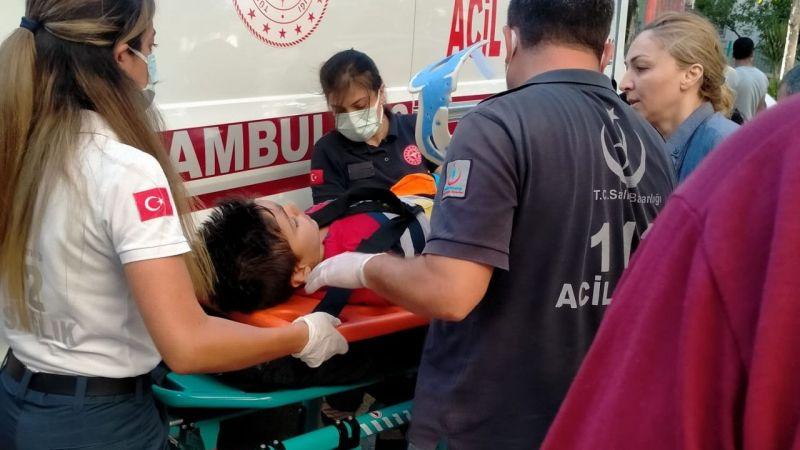Söke'de otomobilin çarptığı çocuk yaralandı