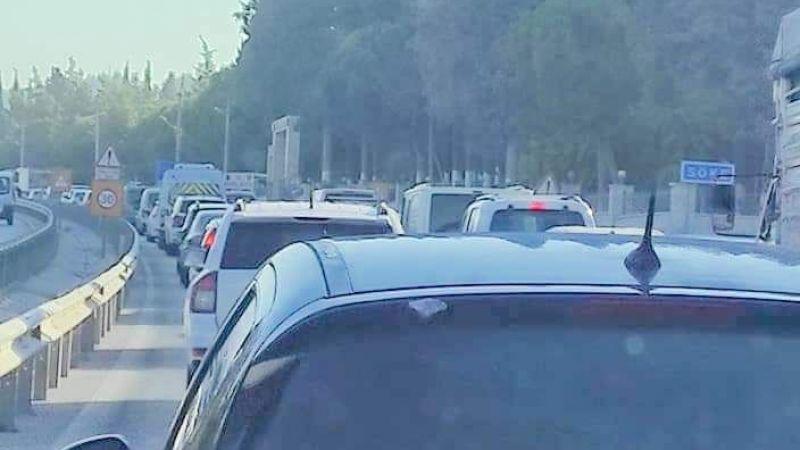Çevre yolunda yoğun trafik