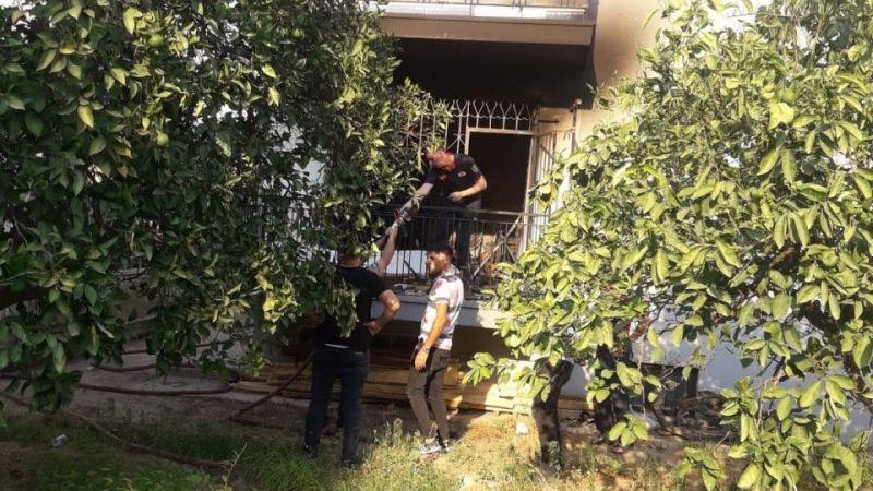 Klima bomba gibi patladı, tüm ev yandı
