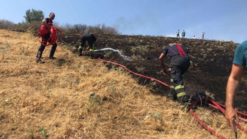 Çakırbeyli'deki yangın söndürüldü