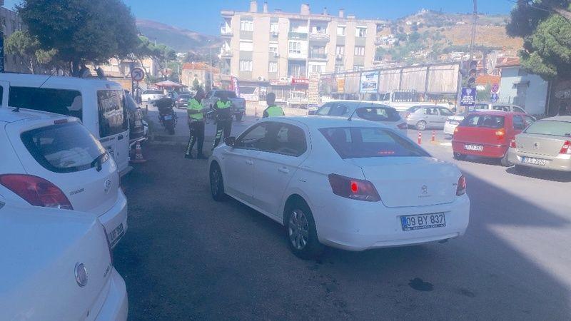 Şehir içerisinde trafik  denetimlerine ağırlık verildi