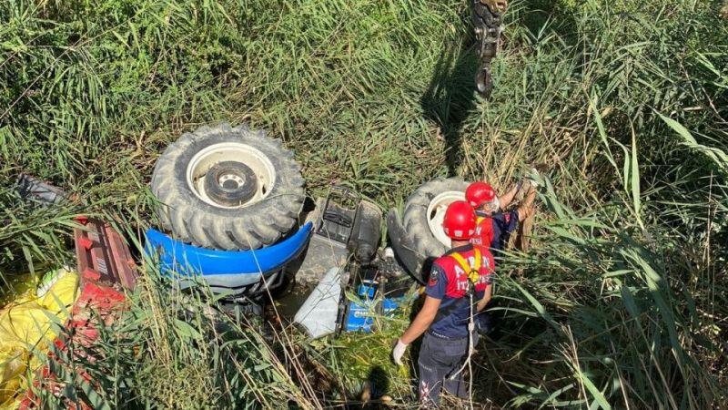 İtfaiye ekipleri zamanla yarıştı ama talihsiz çiftçi kurtarılamadı