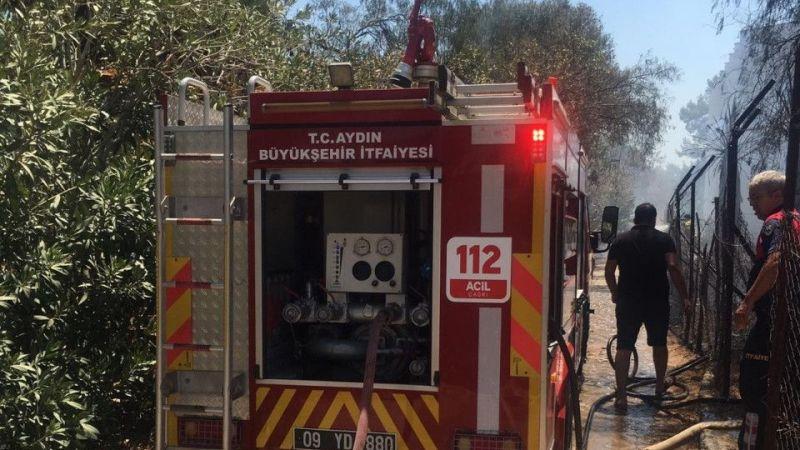 Yangın beş yıldızlı otele sıçramadan söndürüldü