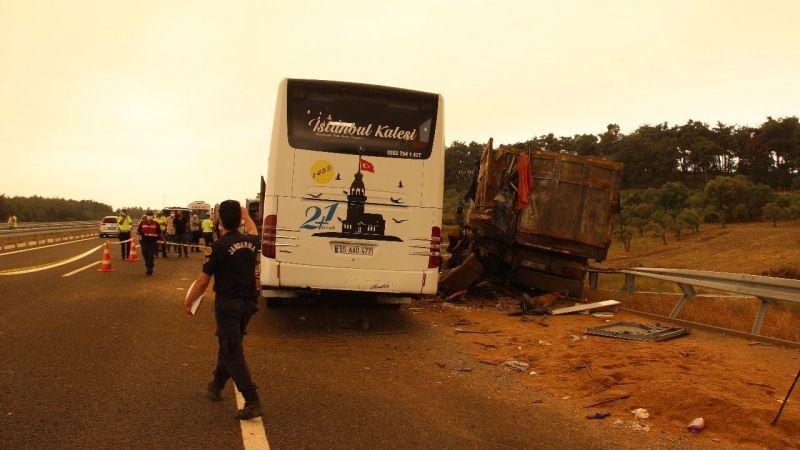 Otobüs kazasının ateşi Söke'ye düştü