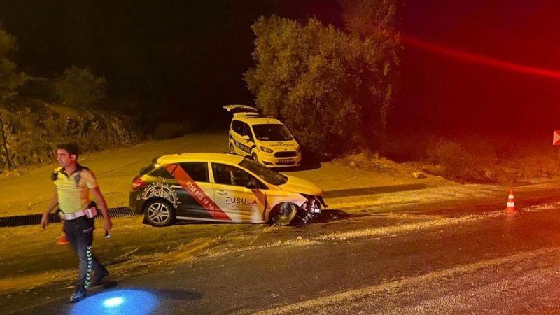 Camdan fırlayan sürücü ağır yaralandı