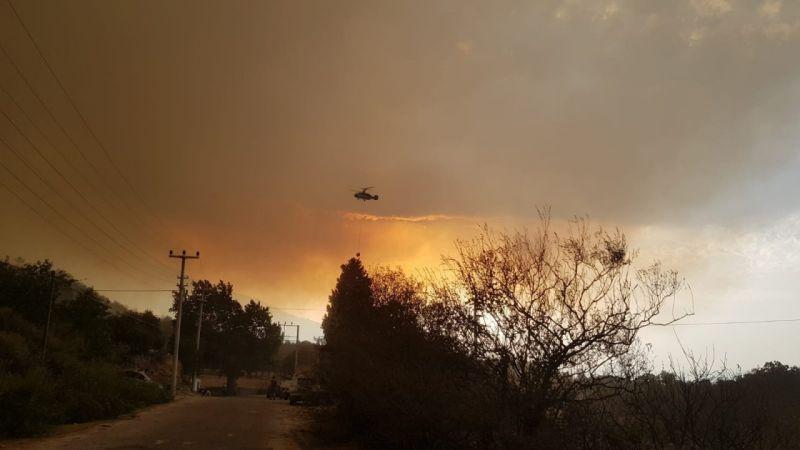 Orman yangını dolayısıyla Kabalar Mahallesi tahliye edildi