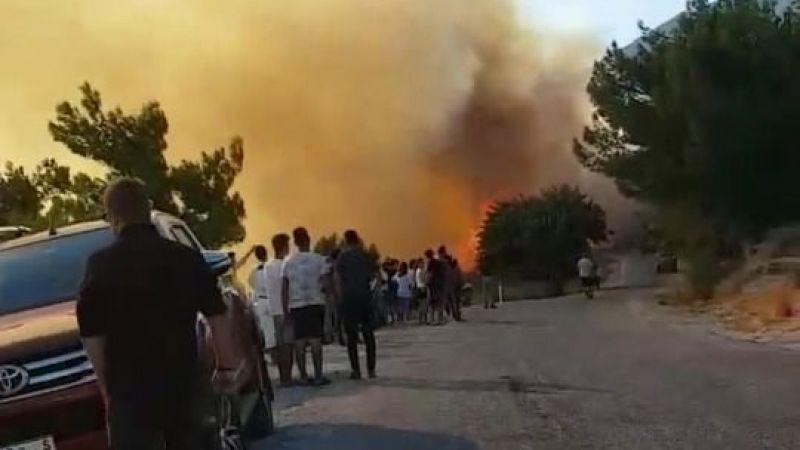 Doğanbey'de yangın çıktı