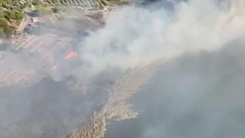 Doğanbey'de yangın söndürüldü, nefes aldık