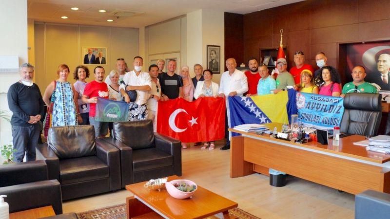 Başkan Tuncel Bosna Hersekli konuklarını ağırladı