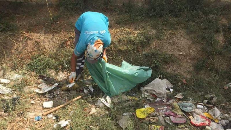 Okullarda çevre temizlik çalışması sürüyor