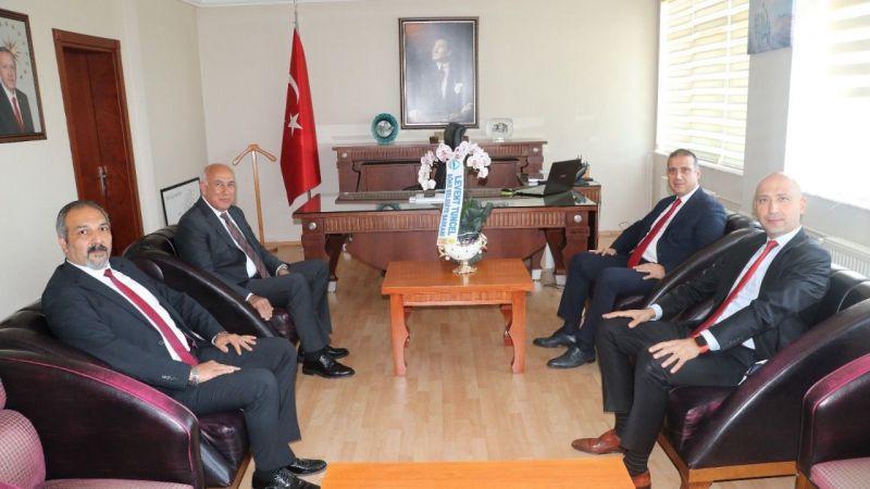 Başkan Tuncel'den, Kaymakam  Güney'e 'Hayırlı Olsun' Ziyareti