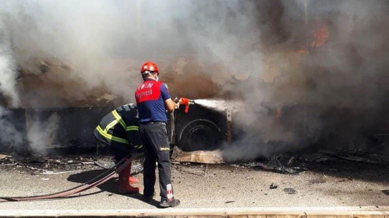 Turist kafilesi yanmaktan son anda kurtuldu