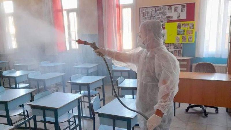 Okullarda dezenfekte çalışmaları sürdürülüyor