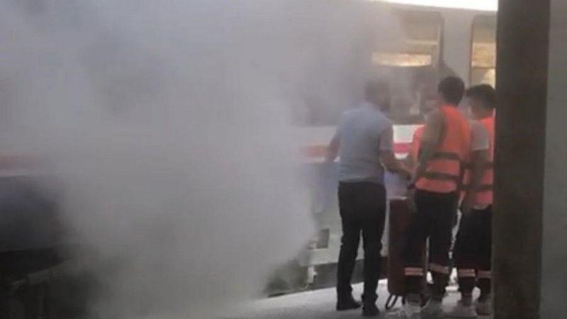 Aydın'da tren yangını