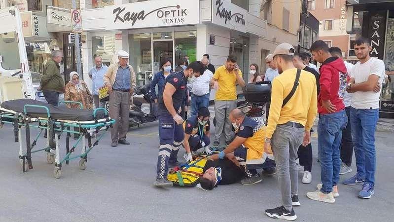İstasyon caddesinde kaza 1 yaralı