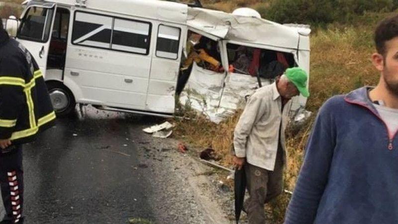 Söke-Davutlar yolunda kaza 1 ölü, çok sayıda yaralı
