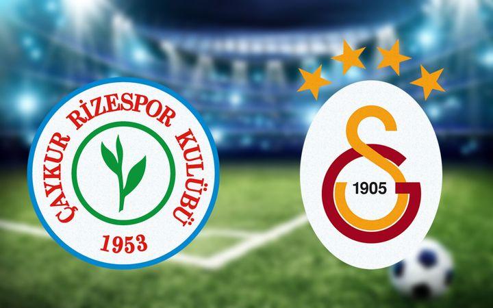 Rizespor Galatasaray maçı ne zaman hangi kanalda saat kaçta?