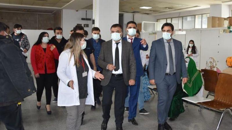 Müdür Sünnetçioğlu VEAH'de incelemelerde bulundu