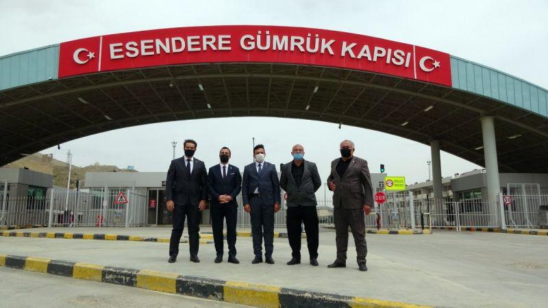 Hakkarili oda başkanlarından Esendere Sınır Kapısı'na ziyaret