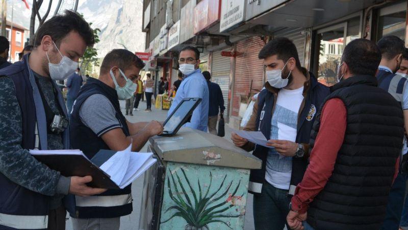 Hakkari'de 45 kişiye para cezası kesildi