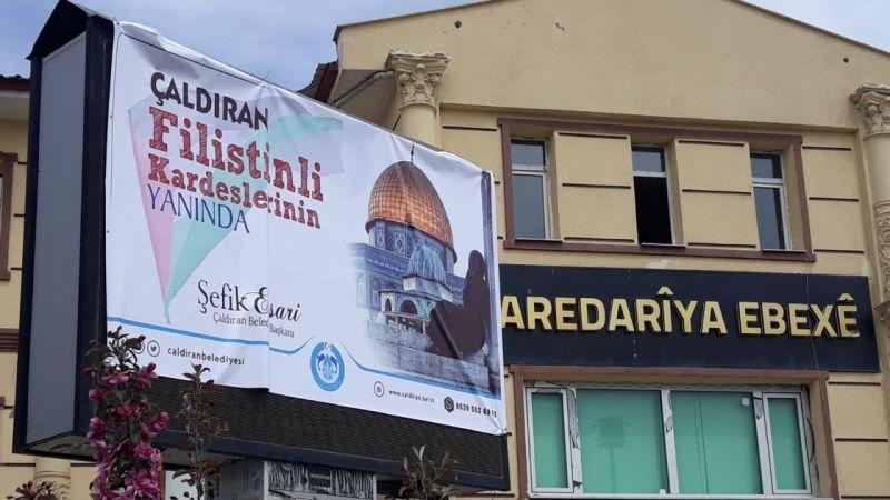 Van Çaldıran Belediyesi'nden Filistin'e destek