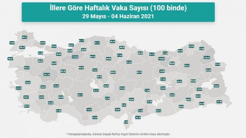 Vaka haritası paylaşıldı! İşte Van'daki vaka sayısı