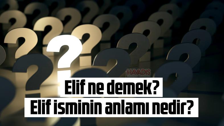 Elif ne demek? Elif isminin anlamı nedir?
