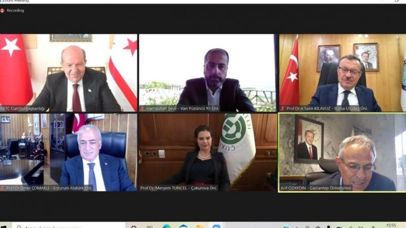 Van YYÜ Rektörü Şevli KKTC Cumhurbaşkanı ile görüştü