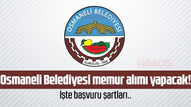 Osmaneli Belediyesi memur alımı yapacak! İşte başvuru şartları