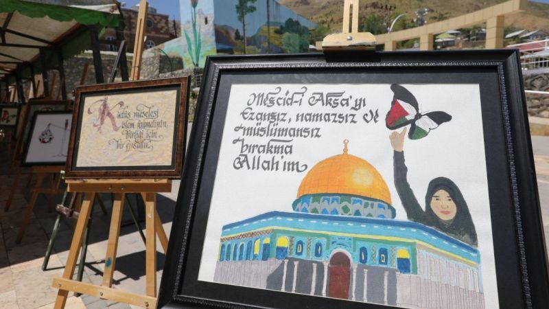 Başkale'de öğretmenlerden Filistin'e destek etkinliği