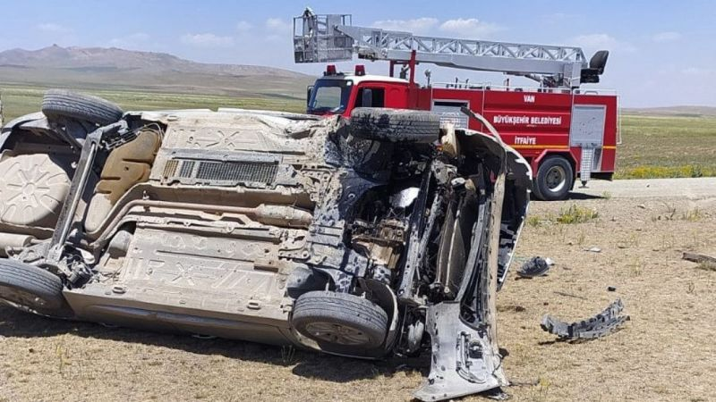 Van Saray İlçe Müftüsü trafik kazası geçirdi
