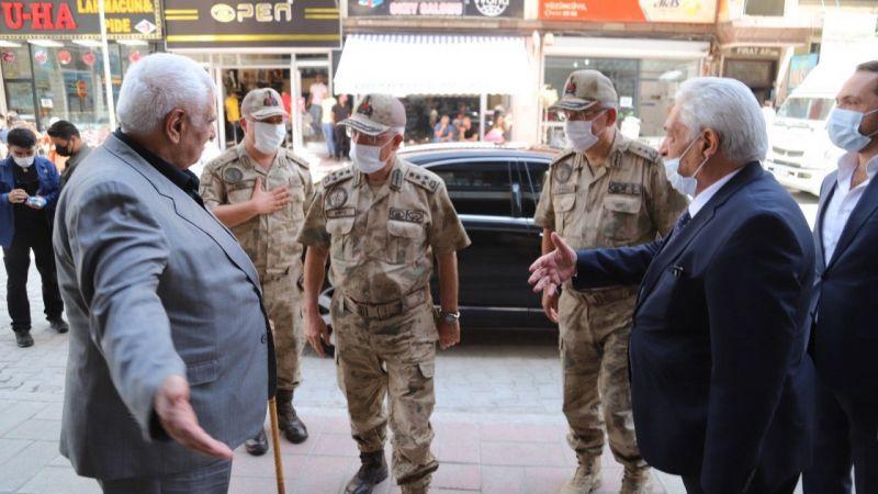 Orgeneral Çetin'den Burukan Aşireti kanaat önderi Kurşunluoğlu'na ziyaret