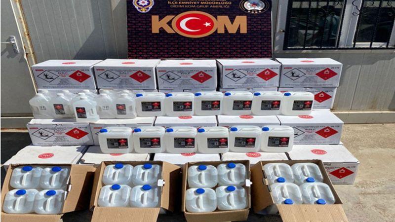 Aydın'da 862 litre etil alkol ele geçirildi