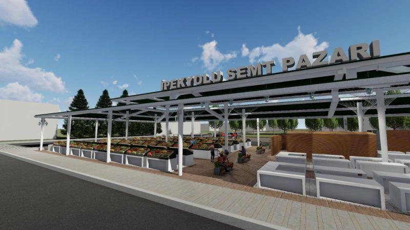 İpekyolu Belediyesi modern semt pazarı kuruyor