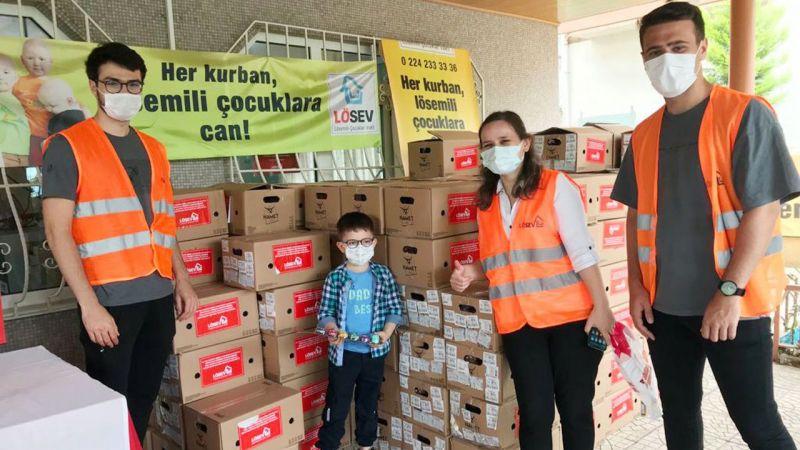 LÖSEV et ve et ürünleri desteğini Bursa'da sürdürdü