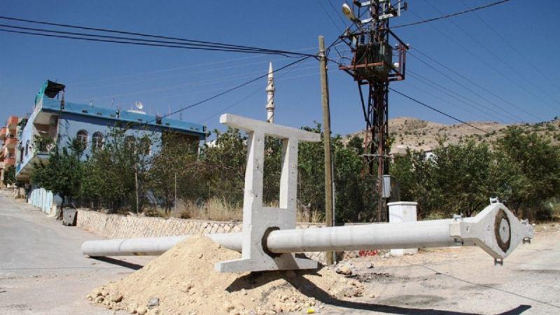 Mardin Yeşilli'de elektrik direkleri ve trafolar yenileniyor