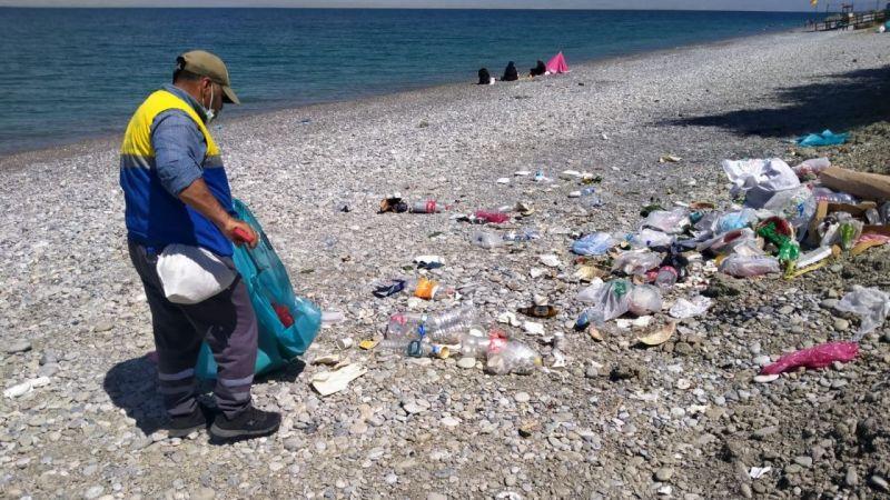 Tuşba Belediyesinden Van Gölü sahillinde temizlik çalışması