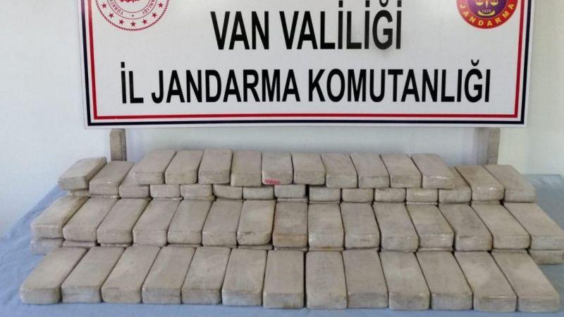 Van Başkale'de 51,5 kilo eroin ele geçirildi