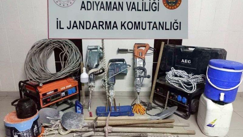 Adıyaman'da kaçak kazı operasyonu: 7 gözaltı
