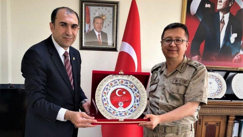 Tuğgeneral Yiğit'ten VANESOB Başkanı Berge'ye ziyaret