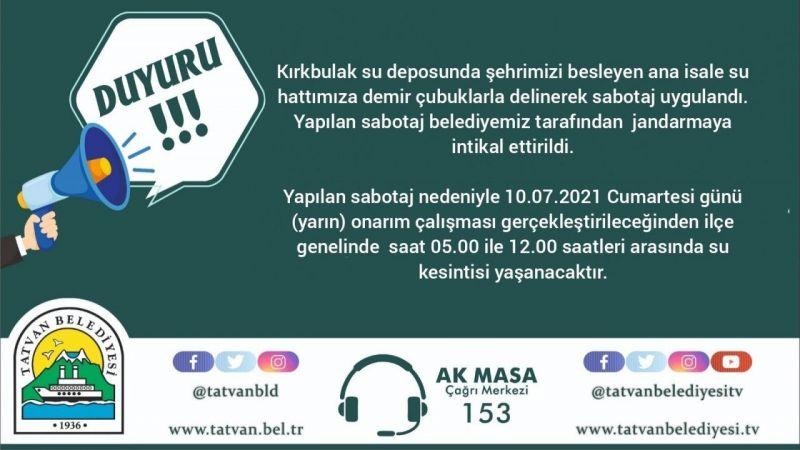 Bitlis'te akıl almaz olay! Su hattını delerek ilçeyi susuz bıraktılar